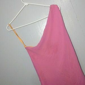 Express l Pink and Orange Desiner Dress l 13/14